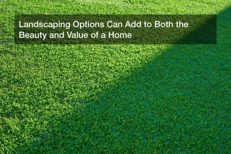 Landscaping Options Can Add to Both the Beauty and Value of a Home